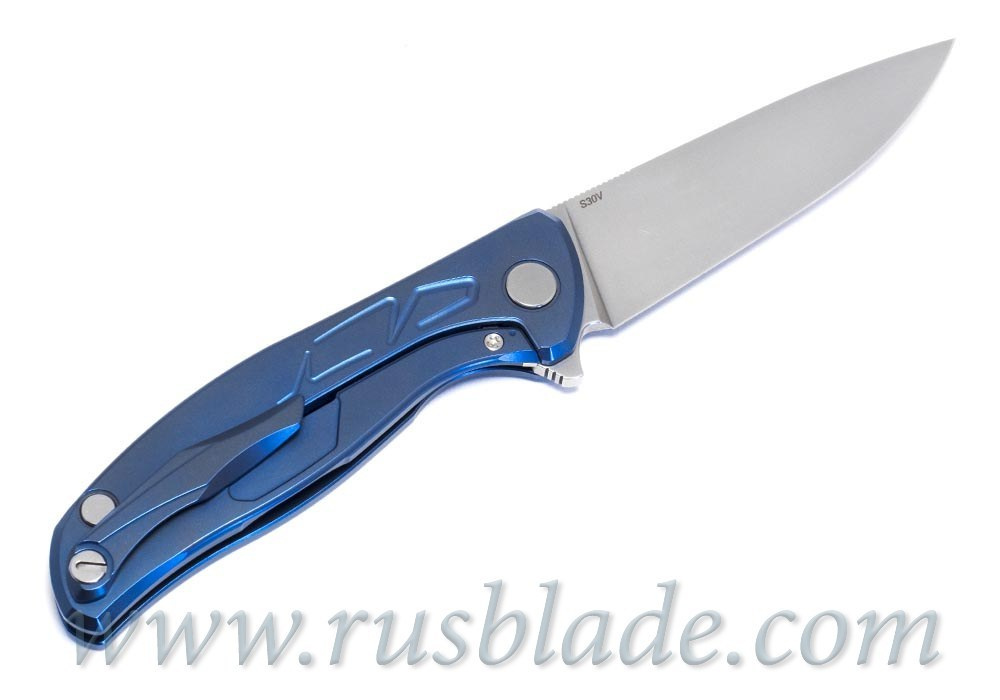 """Shirogorov Flipper 95 S30V """"Skrepka"""" Blue Anod"""