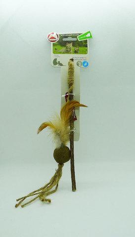 NEMS Игрушка дразнилка для кошек с кошачьей мятой на деревянной палочке