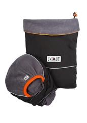 Двухстронняя водоотталкивающая накидка для слингоношения МаМ Deluxe Cover, Черный/Серебристый