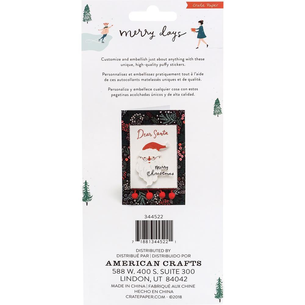 Стикеры обьемные  Merry Days Puffy Stickers-  50 шт
