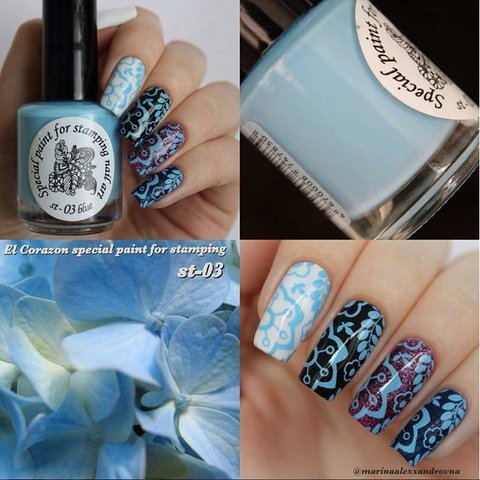 Kaleidoscope Лак для стемпинга №st-03 Blue 15 мл