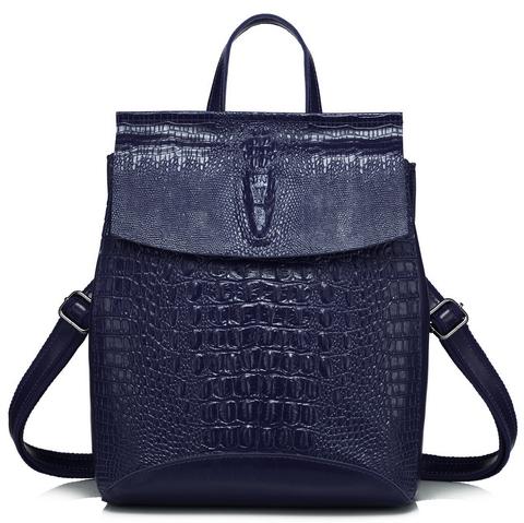 Рюкзак женский JMD Reptilia 3203 Темно-синий