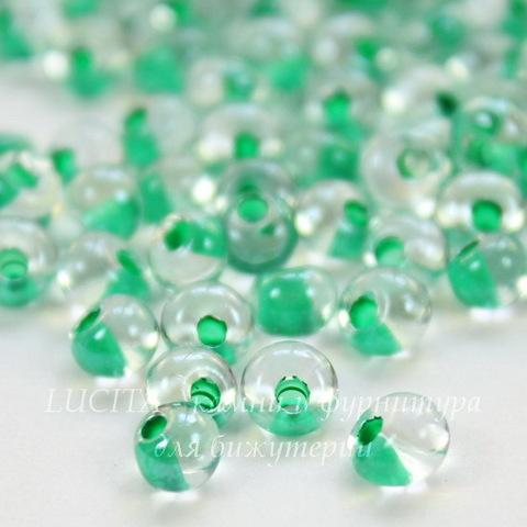 38656 Бисер Preciosa Дропс (Drops) 5/0 Кристалл блестящий с ментоловым центром