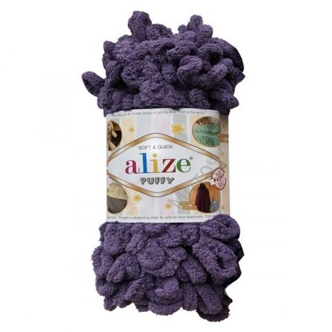 Пряжа Alize Puffy 202 дымчато-сиреневый