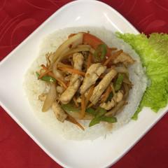 110Р - Вок курица с рисом