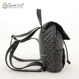 Сумка Саломея 1017 черная стёжка крупная (рюкзак)