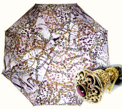 Зонт женский складной Pasotti 58003-9-P15Violet Catene