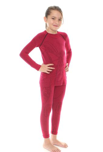 Комплект термобелья Brubeck Extreme Merino фиолетовый (KP10030) детский для девочек