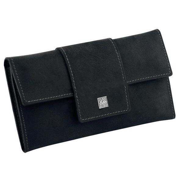 Маникюрный набор Erbe, 5 предметов, цвет черный, кожаный футляр