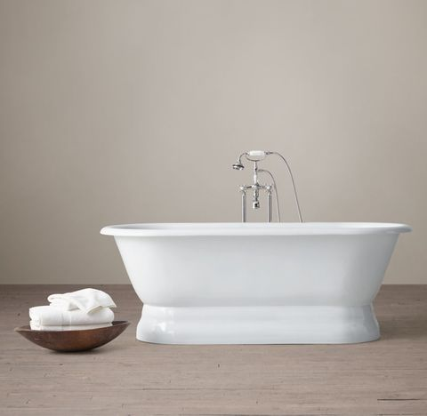 Palais Pedestal Soaking Tub with Cross-Handle Tub Fill