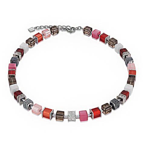 Колье Coeur de Lion 4890/10-0319 цвет мультиколор, красный, розовый, полосатый