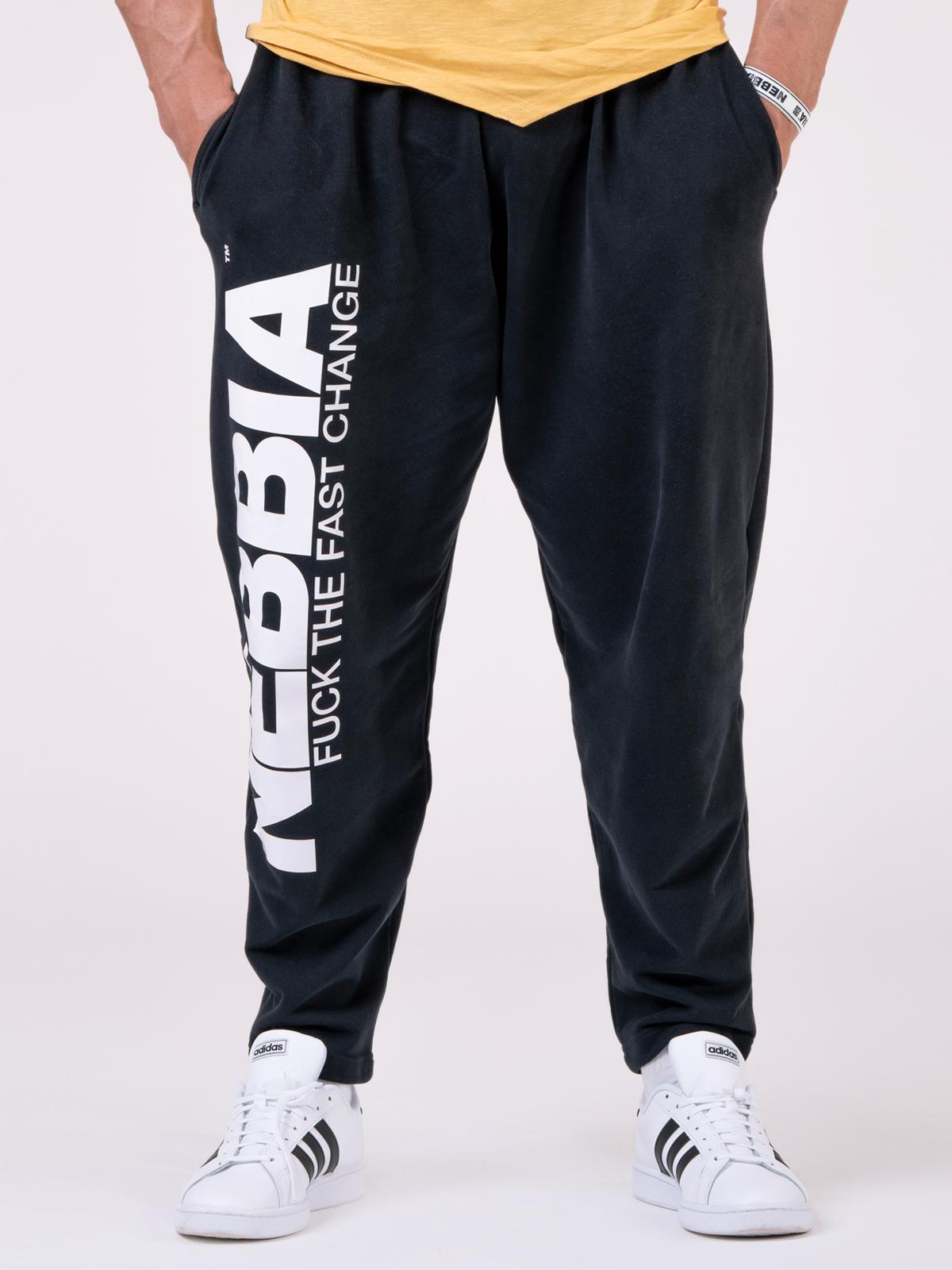 Штаны NEBBIA Beast Mode On iconic sweatpants 186 BLACK