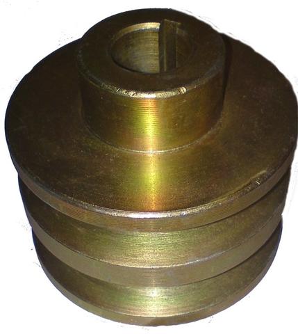 Шкив двухручейковый для двигателя под круглый вал 19мм.