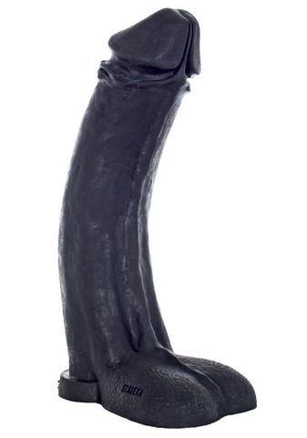 Черный фаллоимитатор-гигант