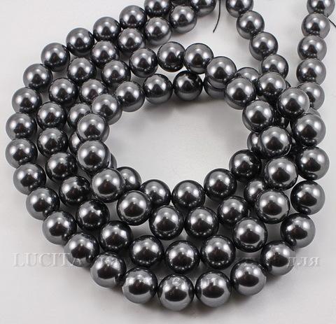 5810 Хрустальный жемчуг Сваровски Crystal Dark Grey круглый 8 мм , 5 шт (Crystal Dark Grey 3)