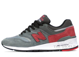 Кроссовки Мужские New Balance 997 Made In USA Grey Red