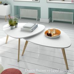 Комплект из двух столиков DUPEN CT-901 Белый