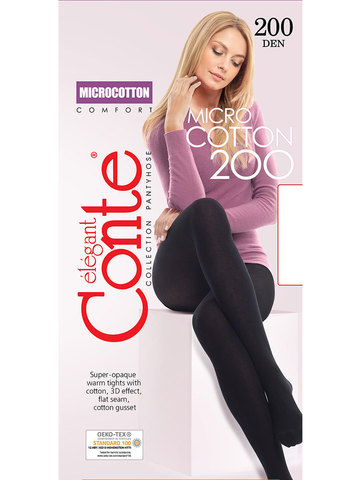 Колготки Microcotton 200 XL Conte
