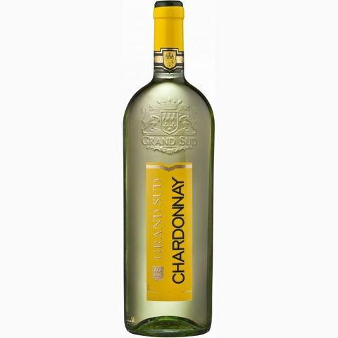 Вино Гран Сюд Шардонне геогр. наим. 2013 бел. п/сух. 1 л 12,5% Франция