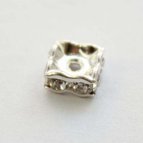 77604 Бусина - рондель Сваровски Crystal (цвет - серебро) 5х2 мм