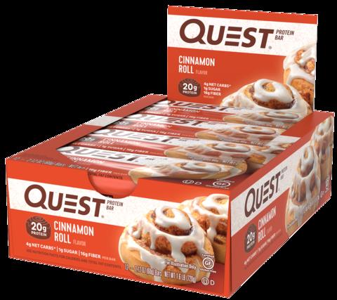 Протеиновые батончики Quest Bar Cinnamon Roll (Булочка с корицей), 12 шт купить quest bar