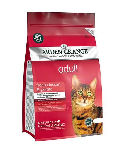 Arden Grange Adult корм беззерновой для кошек с Курицей и картофелем 400 г