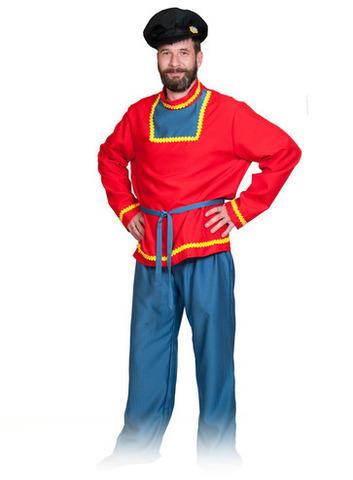 Взрослый карнавальный костюм Иванушка (красная рубаха)