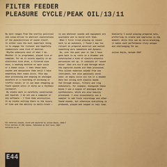 Pleasure Cycle / Peak Oil / 13 / 11