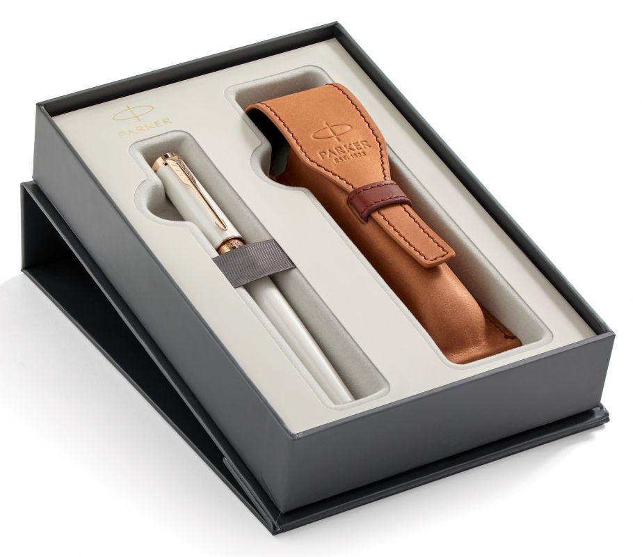 Набор подарочный Parker Ingenuity S - Pearl PGT, ручка 5й пишущий узел, M + чехол