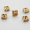 77604 Бусина - рондель Сваровски Crystal (цвет - античное золото) 5х2 мм