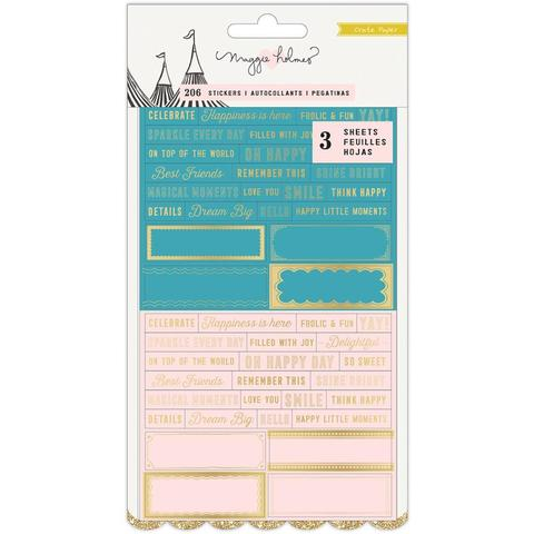 Стикеры Maggie Holmes Carousel Clear Stickers -206шт