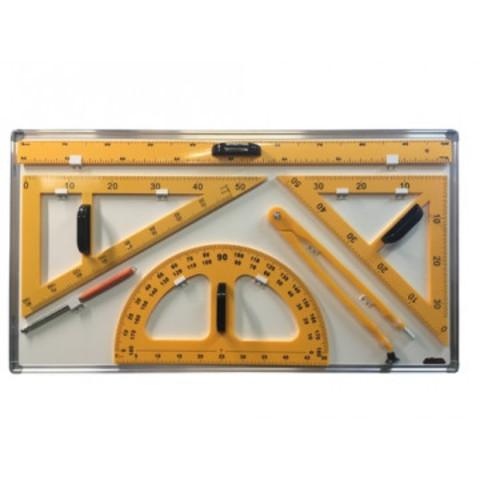 Набор чертежный для магн-маркерных досок пласт.(лин,трансп,2угол,цирк,ук)