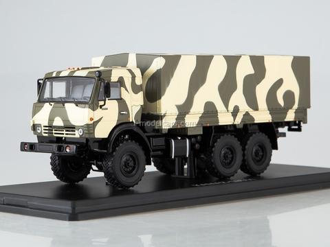 KAMAZ-53501 Mustang camouflage Forest white-khaki 1:43 Start Scale Models (SSM)