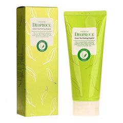 Deoproce Premium Green Tea Peeling Vegetal - Увлажняющий пилинг-скатка с экстрактом зеленого чая