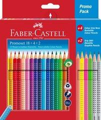 Karandaş 18 rəng 4+2 promo  Faber Castell