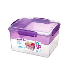 Контейнер Tо-Go двухуровневый с разделителями, фиолетовый 2,3 л