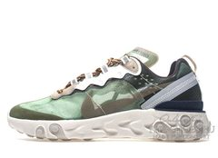 Кроссовки Мужские Nike React Element 87 Grey Green Blue