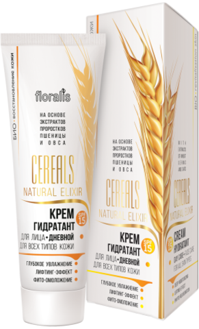 Floralis Cereals Natural Elixir Крем-гидратант дневной SPF15 50г