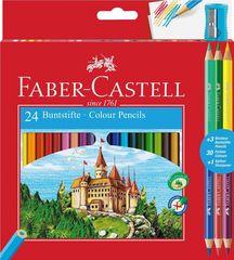 Карандаш--Karandaş 24rəng + 3 Faber Castell