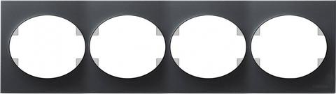 Рамка на 4 поста, горизонтальный монтаж. Цвет Антрацит. ABB(АББ). Tacto(Такто). 5574.1 AN