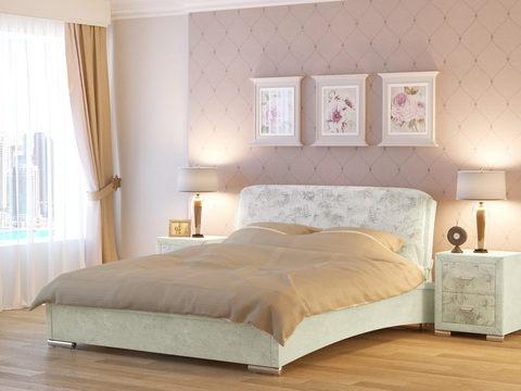 Кровать двуспальная Nuvola 4 (Нувола 4) Ткань: Драфт Вижн