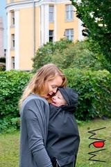 Накидка для слингоношения для ветреной и дождливой погоды с шапочкой для малыша МаМ All-Weather Cover, Серый