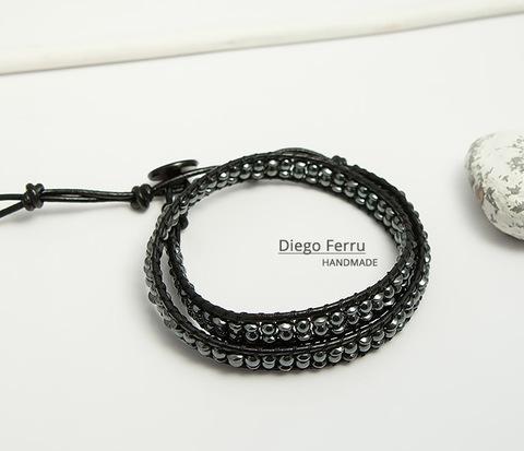 Красивый браслет из натурального гематита ручной работы, Diego Ferru