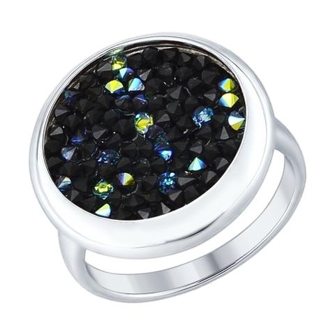 Кольцо  из серебра с  кристаллами SWAROVSKI арт.94012429