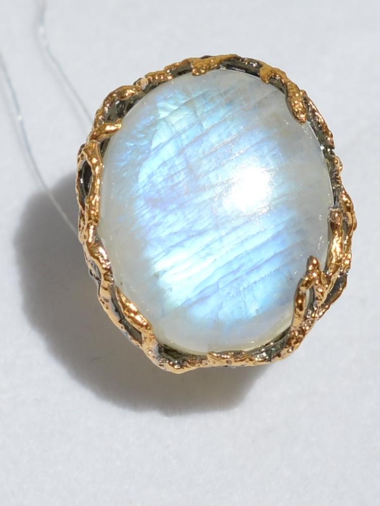 Розмари малое (серебряное кольцо с позолотой)