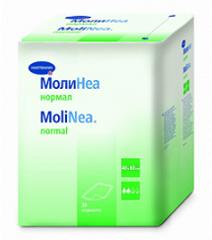 Пеленки впитывающие 90х60 см, 80 г/м2, 30 шт., Hartmann MoliNea normal