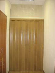 Дверь гармошка без витражей  дуб 60 x 188(H), ИТАЛИЯ