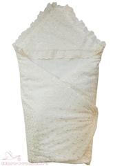 Папитто. Конверт-одеяло кружевной на липучке, синтепон 100, экрю