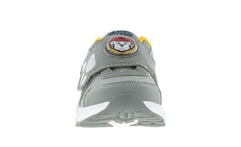 Светящиеся кроссовки Щенячий патруль (Paw Patrol) на липучках для мальчиков, цвет серый. Изображение 2 из 5.