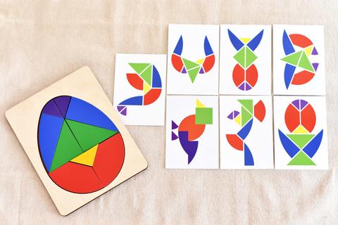 Головоломка Колумбово Яйцо с карточками, RadugaKids (Радуга Кидс)